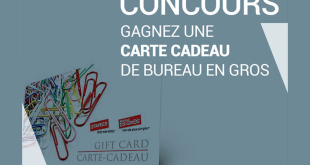 Carte cadeau bureau en gros de québec concours gratuits