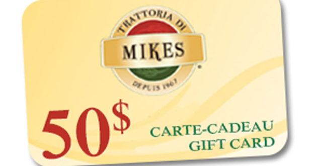 Carte-cadeau Mikes de 50 $