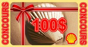 Carte cadeau Shell de 100$