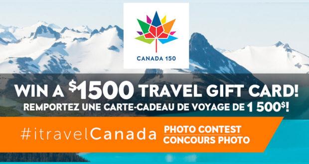 Carte-cadeau de voyage de 1500$