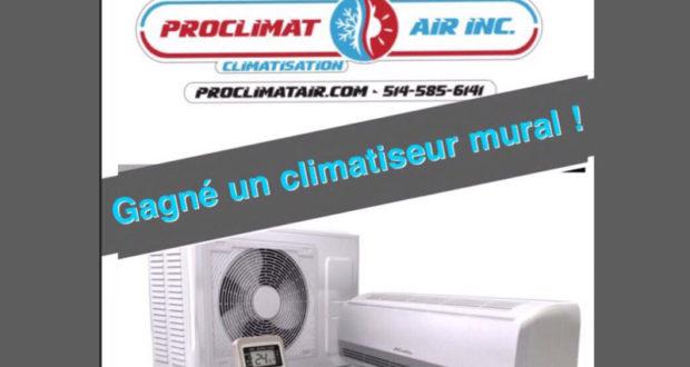 Gagnez un climatiseur mural de 2395$