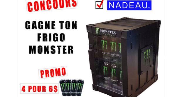Un frigo de marque Monster Energy