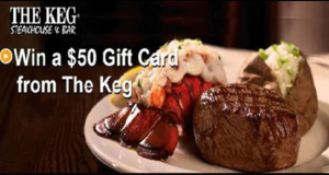 50$ en Carte cadeau The Keg Steakhouse & Bar