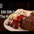 50$ en Carte cadeau The Keg Steakhouse & Bar