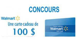 Carte-cadeau Walmart d'une valeur de 100$