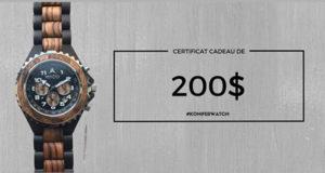 Certificat cadeau Konifer Watch de 200$