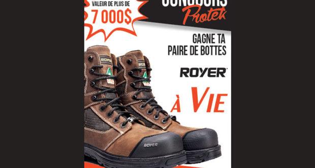 Paire de bottes ROYER par année pendant 25 ans