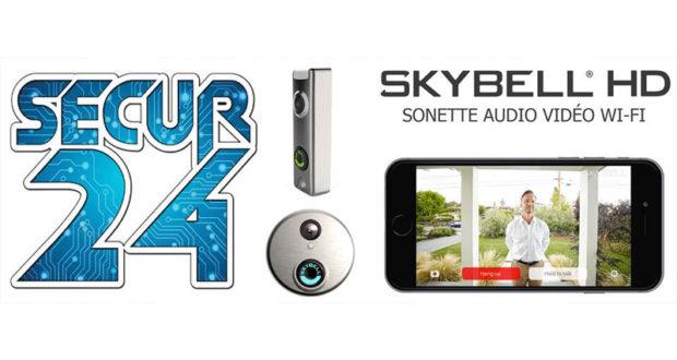 Système de sécurité intelligent Sonnette audio vidéo Skybell HD Trim