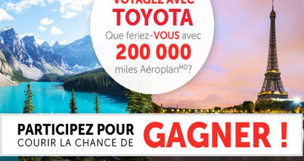 Concours Voyagez grâce à Toyota