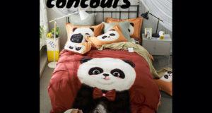 Un ensemble de literie Panda