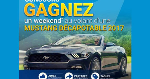 Un long weekend à bord d'une Ford Mustang décapotable 2017