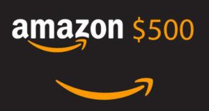 Carte-cadeau Amazon d'une valeur de 500 $