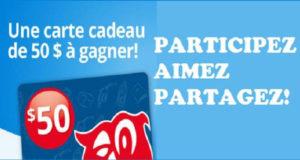 Carte-cadeau Couche-Tard de 50$