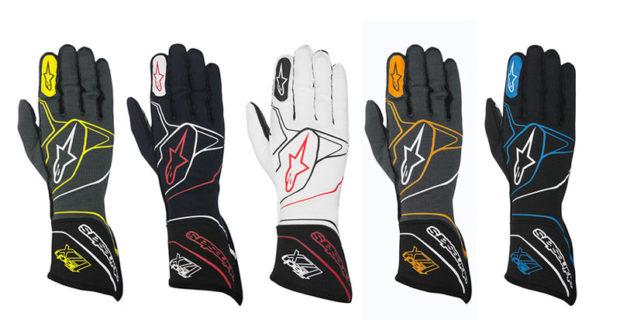 Une paire de gants de course Alpinestars de haut niveau