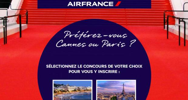 Voyage pour 2 à Cannes Ou Paris (15000$)