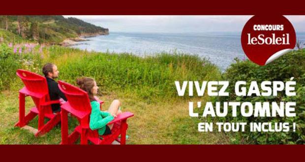 Voyage pour 2 personnes en Gaspésie (Valeur de 2300 $)