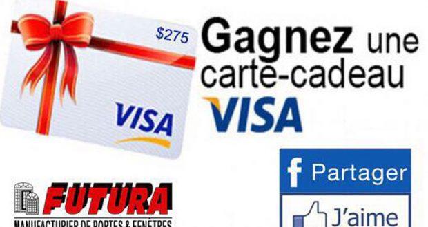 Carte de cr dt pr pay e de 275 qu bec concours gratuits for Futura porte et fenetre quebec