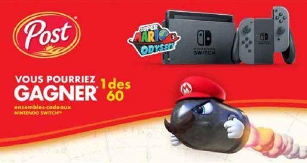 Gagnez l'un des 60 ensembles-cadeaux Nintendo Switch