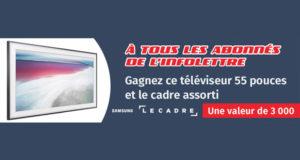 Téléviseur Samsung Le Cadre 4K, 55 pouces (3000$)