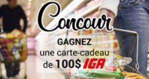 Carte-cadeau IGA de 100$