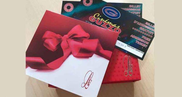 Certificats cadeaux resto pour 2 + billets de Cinéma