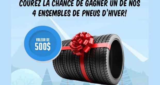 Ensemble de pneus d'hiver neufs dans le commerce de votre choix