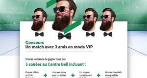 5 soirées VIP pour 4 au Centre Bell de 5568 $ chacune