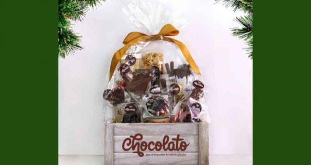 Panier-cadeau Chocolato « LE COFFRE AUX TRÉSORS »