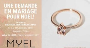 Une bague Pira en Or rose, Diamant et Morganite de 1050$