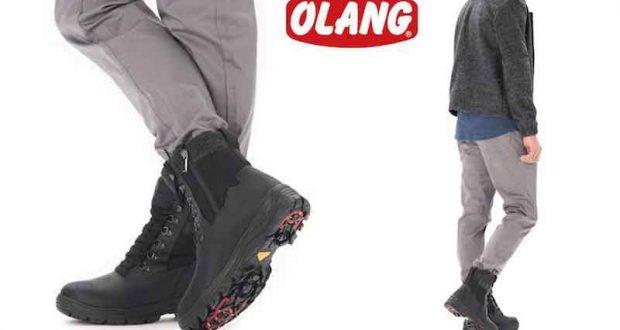 Une paire de bottes à crampons Olang