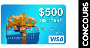 Cartes-cadeaux prépayées Visa de 500 $