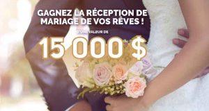 Gagnez la réception de mariage de vos rêves (15 000$)