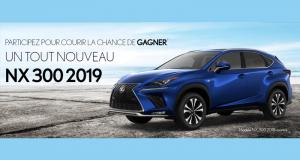 Gagnez un Lexus NX 300 F SPORT Série 1 2019 (51350$)