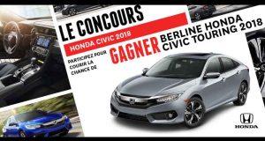 Gagnez une berline Honda Civic Touring 2018 (33055$)