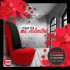 Une chaise talon haut rouge flamboyant