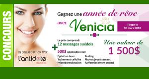 1 an de massages + 500 $ de traitements esthétiques