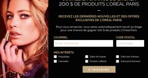 200$ de produits L'Oréal Paris