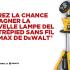 Lampe DEL sur trépied sans fil 20V MAX de DeWalt