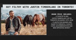 Séjour à Toronto pour voir Justin Timberlake (3000$)
