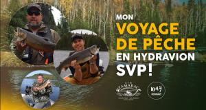 Voyage de pêche en hydravion