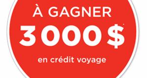 Crédit-voyage de 3 000 $ pour la destination de votre choix