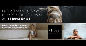 Forfait soin du visage et expérience thermale au Strøm Spa