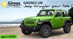 Gagnez un Jeep Wrangler pour l'été