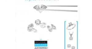 Un diamant libéré d'un poids de 0.18cts