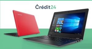 Un laptop Lenovo IdeaPad 110S 11 Rouge