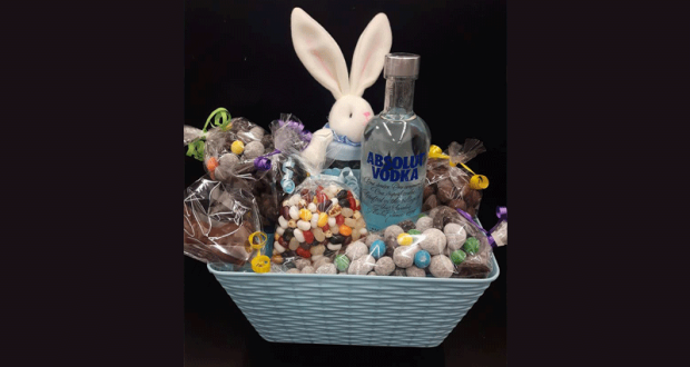 Un panier-cadeau de Pâques offert par Vrac en masse