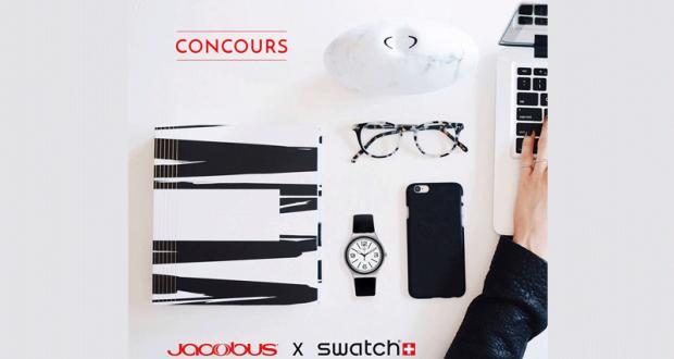 Une montre Swatch offerte par Bijouterie Jacobus