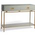 Une table console Harper en gris de Grandinroad