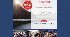 3 crédits de 200 $ chez Via Rail