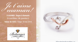 Bague à diamants en or rose et or blanc